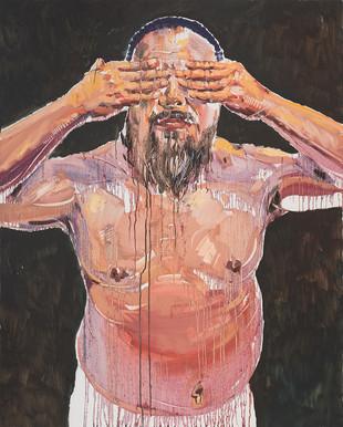 See no evil, 2015, oil on linen, 150x120cm