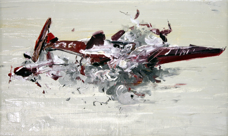 Boom #2, 2009, oil on canvas, 40.5x67cm
