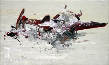 Boom #2, 2009, oil on canvas, 40.5x67cm