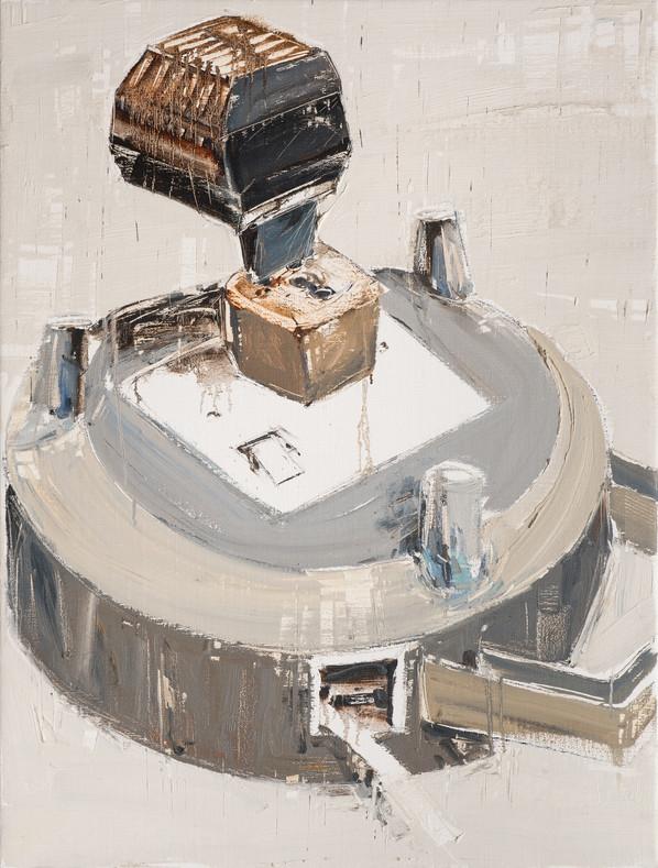 Extension Cord #1, 2010, oil on jute canvas, 122x92cm