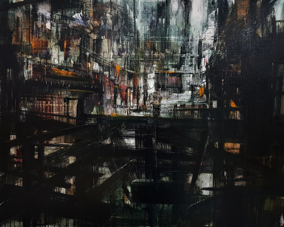 In-Between Places #2, 2019, oil on linen, 64x80cm. Private collection