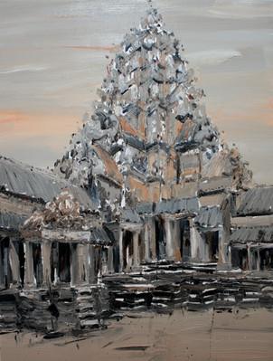 Ankor Wat #10, 2009, oil on jute canvas, 150x112cm