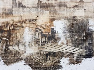 Boo Sze Yang. The Mirage #27, 2018, oil on linen, 60x80cm