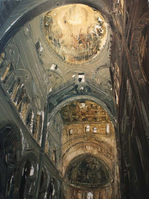 Church of Pisa, Pisa, Italy IV. 2010, oil on linen, 150x112.5cm
