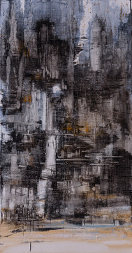 The Mirage #17, oil on linen, 142x74cm. Private collection
