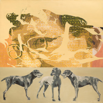 Stray Dogs, 2003, oil on canvas, 150x150cm. Private collection