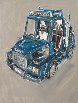 Truck, 2012, oil on jute canvas, 122x92cm