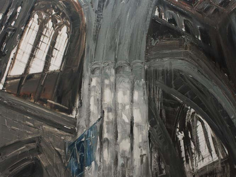Southwark Cathedral, London, UK, 2010, oil on linen, 112.5x150cm. Nanyang Academy of Fine Arts collection
