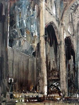 Liverpool Cathedral, UK (II), 2010, oil on jute canvas, 122x92cm. Private collection