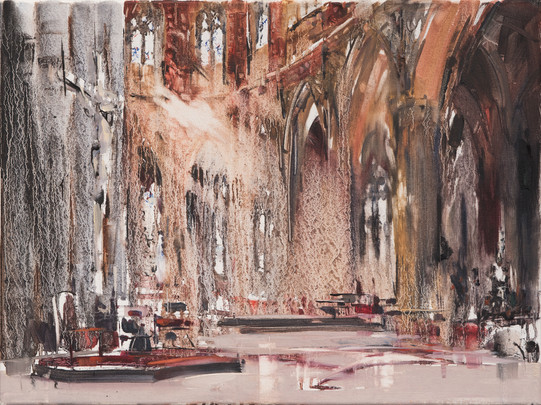 St Patrick Cathedral, Melbourne, 2012, oil on canvas, 46x61cm.Private collection