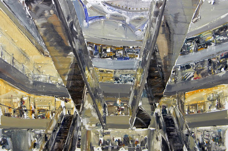 The Mall #16. 2011, oil on canvas, 90x135cm. Private collection