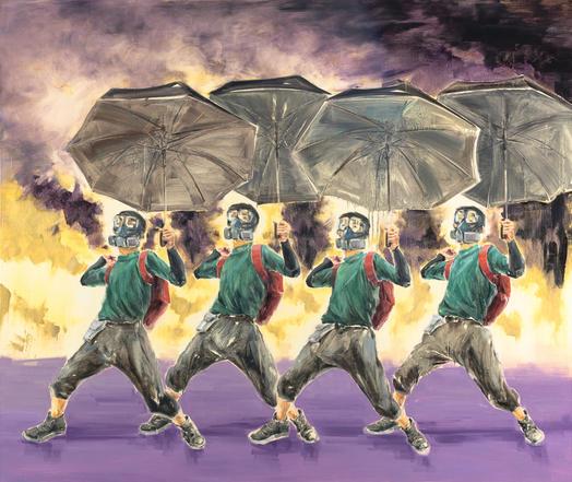 Purple Rain, 2021, oil on linen, 135x160cm