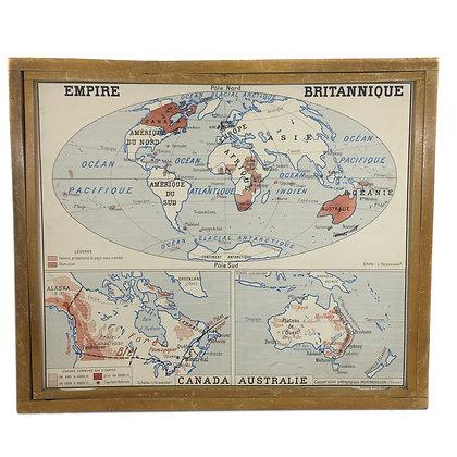 Affiche Empire britannique / Union française