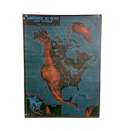 Affiche Amérique du Nord / Asie