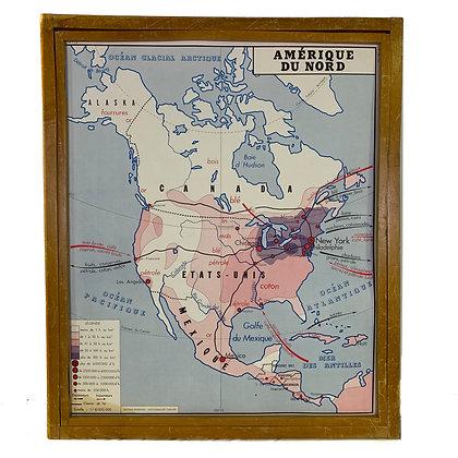 Affiche Amérique du Nord / Asie économique