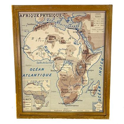 Affiche Afrique physique / politique
