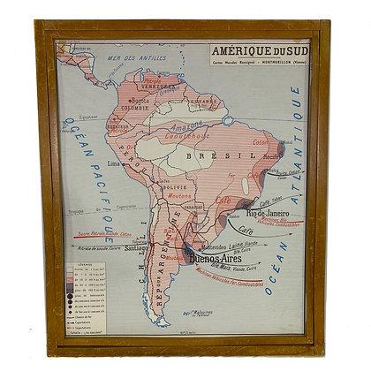 Affiche Amérique du Sud / Amérique du Nord
