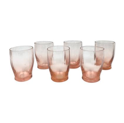 Lot de 6 verres à liqueur Rosaline Arcoroc