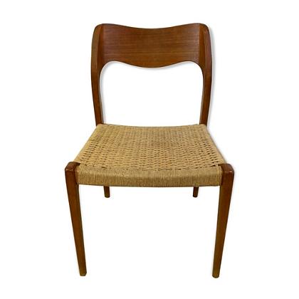 Chaise danoise en bois et corde