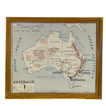 Affiche Australie / Asie économique