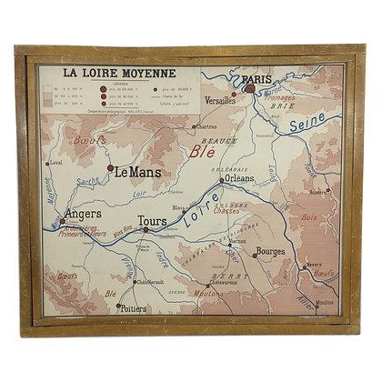 Affiche La Loire moyenne / Est du bassin parisien