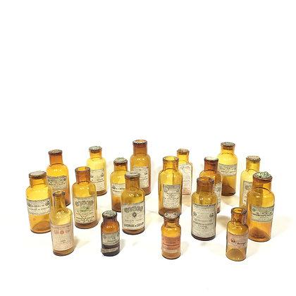 Ancien flacon de pharmacie ambré