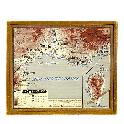 Affiche Midi Méditerranéen / Bassin Aquitain
