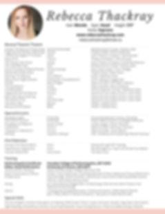 R.Thackray Performance Resume - Feb. 202
