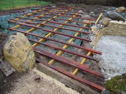 wooden terrace construction
