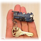 key with train engine for dabbs hotel