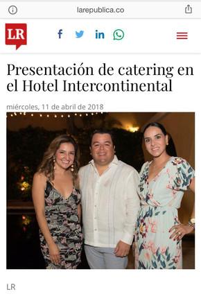 Lanzamiento Catering Hotel Intercontinen