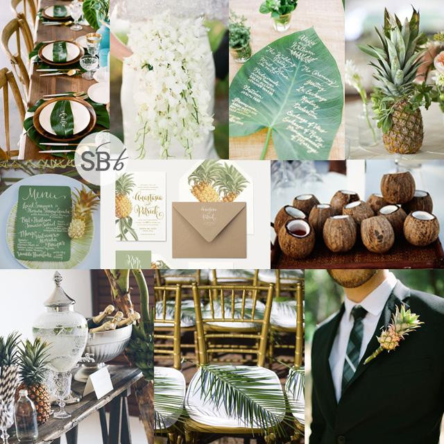 Greenary wedding tropical chic wedding