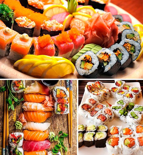 wedding catering sushi