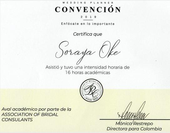 Certificación Convención Wedding Planner 2019
