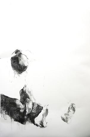 Empty Chest. 115 x 160 cm. Charcoal pape