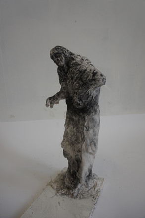 Blooming - Butoh - Plastster and Charcoal powder