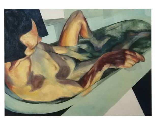 Figure in a Bathtub