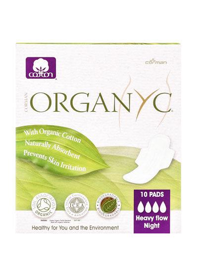 Organyc Organic Cotton Sanitary Pads Heavy Night Flow - 10