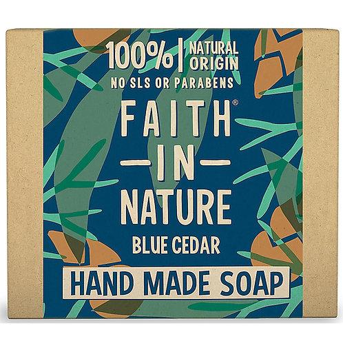 Faith in Nature Blue Cedar Soap Bar - 100g
