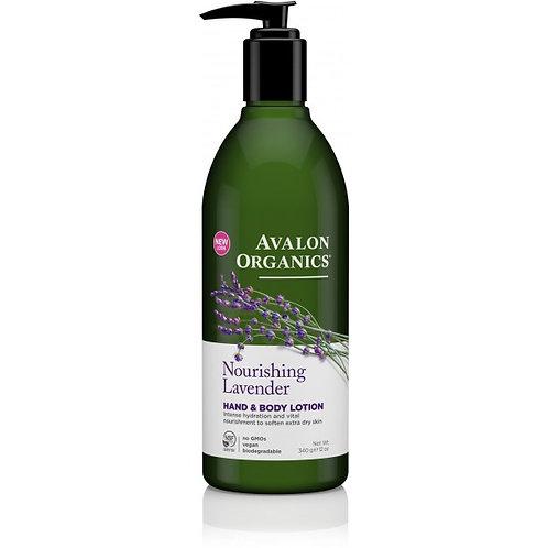 Avalon Organics Nourishing Lavender Hand & Body Lotion - 340g