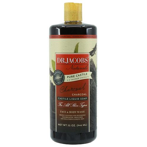 Dr Jacobs Naturals Castile Liquid Soap Charcoal - 946ml
