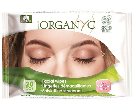 Organyc Facial Cleansing Wipes
