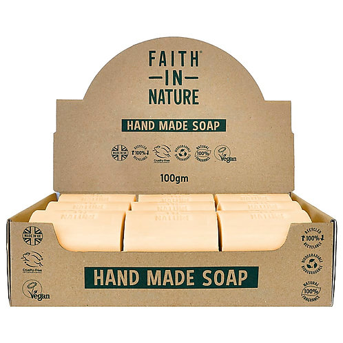 Faith in Nature Orange Unwrapped Soap Bars - 18 Bar Soaps