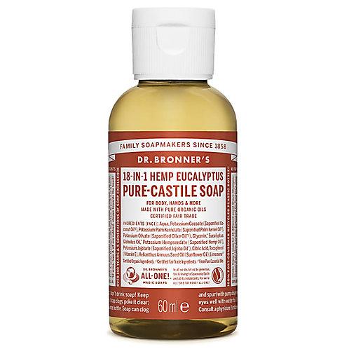 Dr Bronner's Pure Castile Liquid Soap - Eucalyptus - 60ml