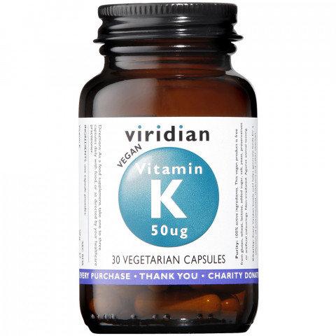 Viridian Vitamin K 50ug Veg Caps 30