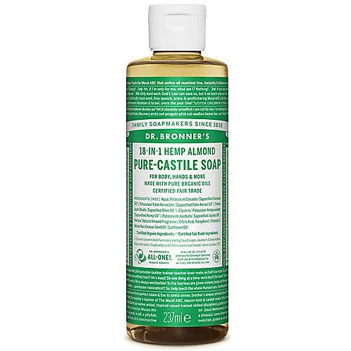 Dr Bronner Almond Pure Castile Liquid Soap - 237ml