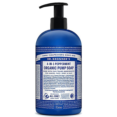 Dr Bronner's Organic Pump Soap - Peppermint - 710ml