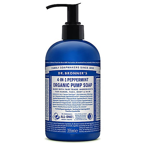 Dr Bronners Organic Pump Soap - Peppermint - 355ml