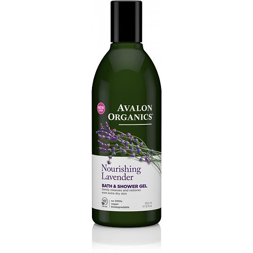 Avalon Organics Nourishing Lavender Bath & Shower Gel - 355ml