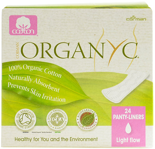 Organyc Organic Cotton Panty-liners Light Flow - Individually wrapped - 24